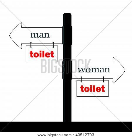 Sign And Guideline For Toilet Illustration Part Two