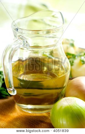 Jug With Vegetable Oil