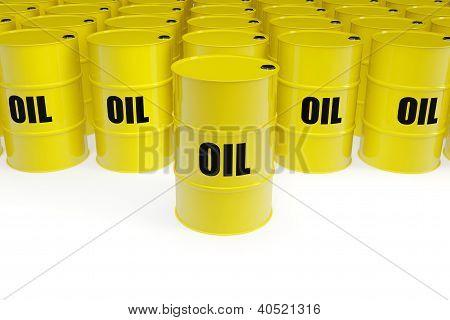 Yellow Oil Barrels