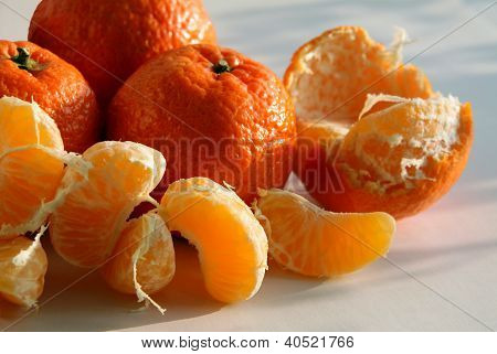 sweet and juicy mandarines