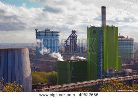 Iron works industry in Duisburg, Germany, Europe
