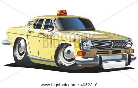 Vector Cartoon Taxi