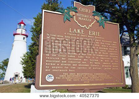 Lake Erie Historical Marker