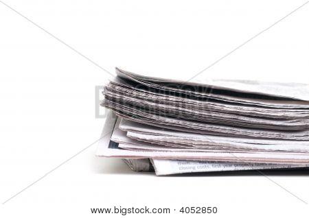 End-Ansicht einer Zeitung