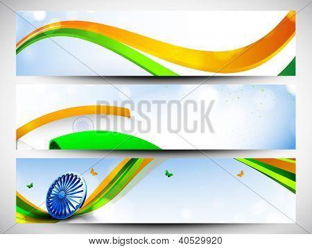 Website header or banner set in Indian flag color. EPS 10.