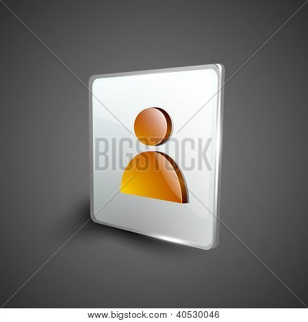 Glossy 3D web 2.0 web users symbol icon set. EPS 10.