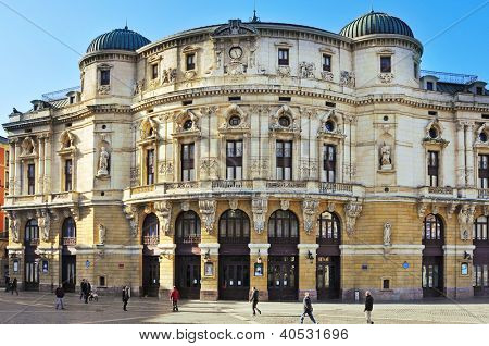 BILBAO, SPAIN - NOVEMBER 14: Teatro Arriaga on November 14, 2012 in Bilbao, Spain. This opera house, built in 1890, is named after Juan Crisostomo de Arriaga known in his time as the Spanish Mozart