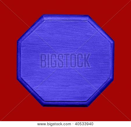Blue Hexagon Shape On Red