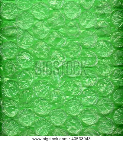 Green Bubblewrap Or Packing Material