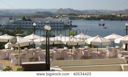Lake view from cafe in udaipur