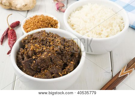 Beef Rendang & Sticky Rice