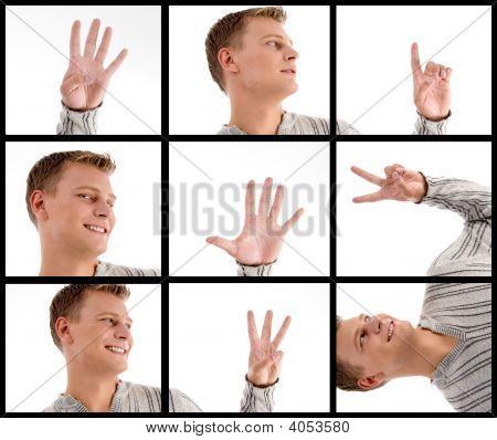 Handsome Man With Hand Gestures