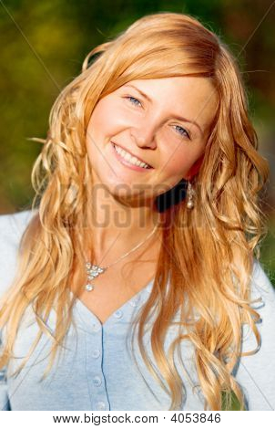 Blonde Woman Smiling