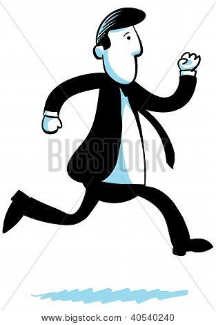 Running Businessman
