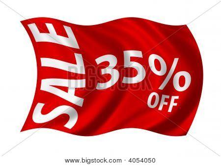 Sale 35% Off Flag