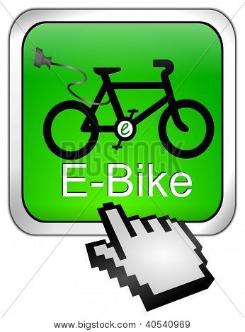 E-Bike Button with Cursor