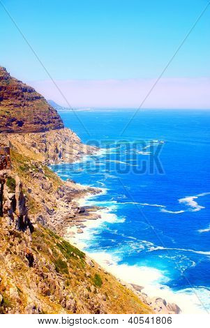 Atlantic Ocean Rock Coast (South Africa).