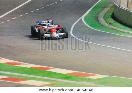 Jarno Trulli'S Toyota In Singapore F1 2008