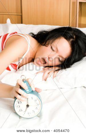 Beautiful Woman Wakes Up