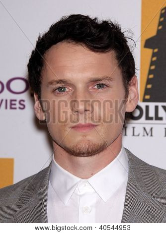 LOS ANGELES - OCT 24:  ANTON YELCHIN arriving to 15th Annual Hollywood Film Awards Gala  on October 24, 2011 in Beverly Hills, CA