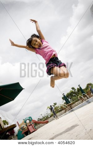 Little Girl Dance Jump