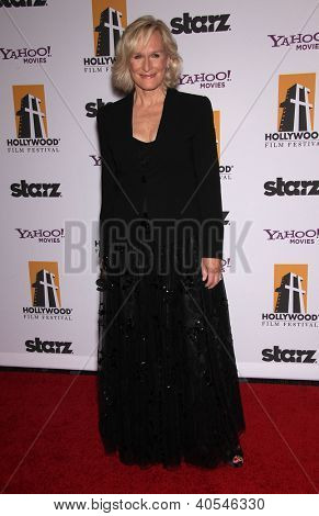 LOS ANGELES - OCT 24:  GLENN CLOSE arriving to 15th Annual Hollywood Film Awards Gala  on October 24, 2011 in Beverly Hills, CA