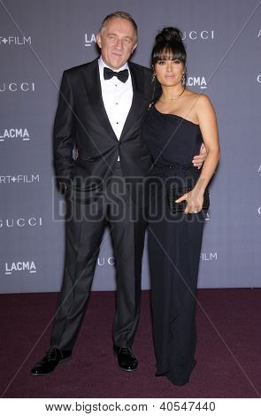 LOS ANGELES - OCT 27: SALMA HAYEK & FRANCOIS-HENRI PINAULT arrives to the LACMA hosts 2012 Art + Film Gala  on October 27, 2012 in Los Angeles, CA