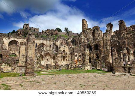 Historic Golkonda fort in Hyderabad, India