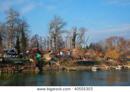 Resort on Mures river, Romania, Europe