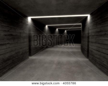 Concrete Tunnel Background