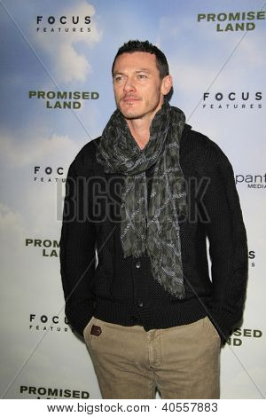 LOS ANGELES - DEC 6:  Luke Evans arrives at the 'Promised Land' Premiere at Directors Guild of America on December 6, 2012 in Los Angeles, CA