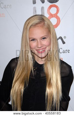 LOS ANGELES - DEC 12:  Danika Yarosh arrives to the NOH8 4th Anniversary Party at Avalon on December 12, 2012 in Los Angeles, CA
