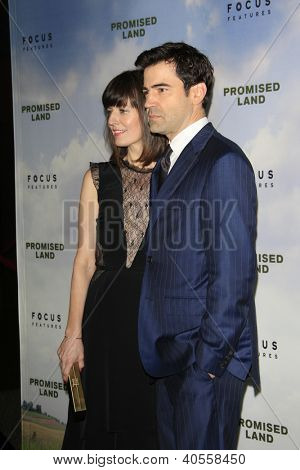 LOS ANGELES - DEC 6:  Rosemarie DeWitt, Ron Livingston arrive at the 'Promised Land' Premiere at Directors Guild of America on December 6, 2012 in Los Angeles, CA