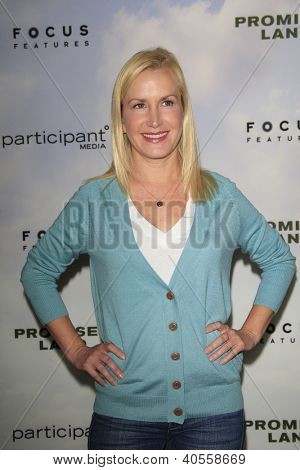 LOS ANGELES - DEC 6:  Angela Kinsey arrives at the 'Promised Land' Premiere at Directors Guild of America on December 6, 2012 in Los Angeles, CA