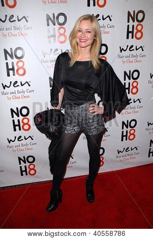 LOS ANGELES - DEC 12:  Jessica Morris arrives to the NOH8 4th Anniversary Party at Avalon on December 12, 2012 in Los Angeles, CA