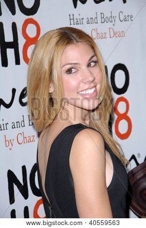 LOS ANGELES - DEC 12:  Kate Mansi arrives to the NOH8 4th Anniversary Party at Avalon on December 12, 2012 in Los Angeles, CA