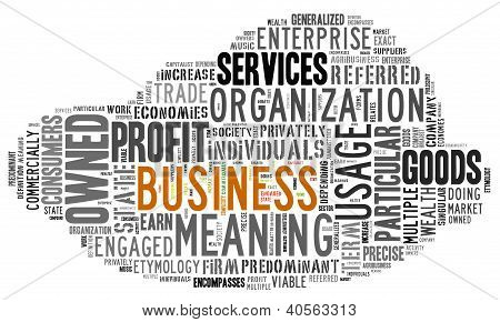 Word Cloud of Business Tag