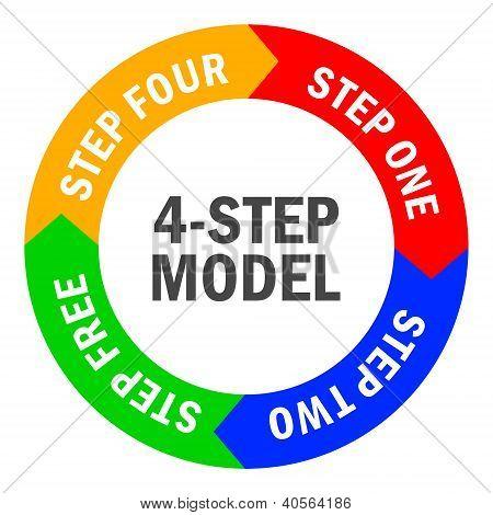 Four-step diagram vector illustration