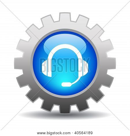 Support icon vector illustration