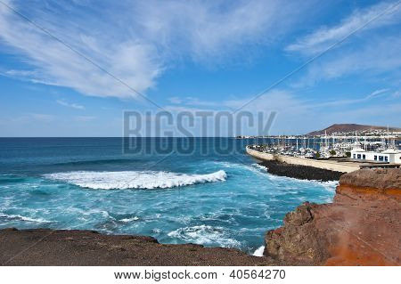 Stormy Sea At Playa Blanca
