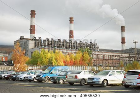 Combined Heat And Power In The City Of Apatity. Russia