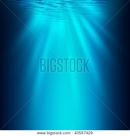 Abyss. Abstract Underwater Background