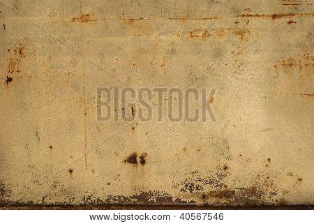 Old tin rusty wall