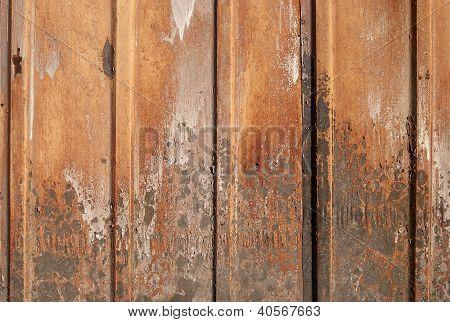 Corrugated rusty iron sheet