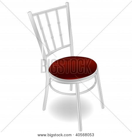red metal chair vector