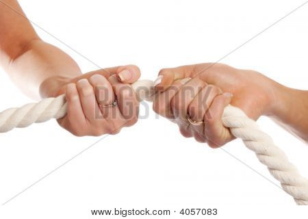 Female Hands holding Seil