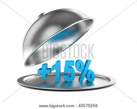 Restaurant Cloche With Percent On A Plate