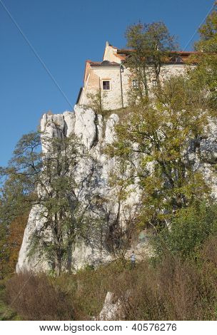 fortified monastery on high limesrone rocks