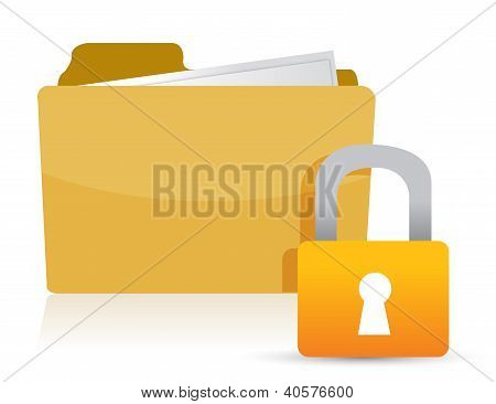 Yellow Folder And Lock