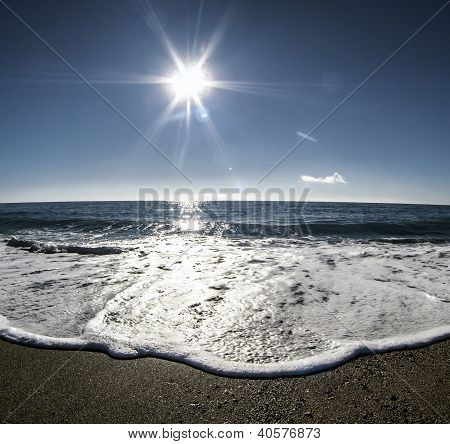 Landscape Of Beautiful Sunny Day On The Beach